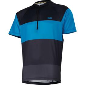 IXS Trail 6.1 Shortsleeve Jersey Men black/fluor blue